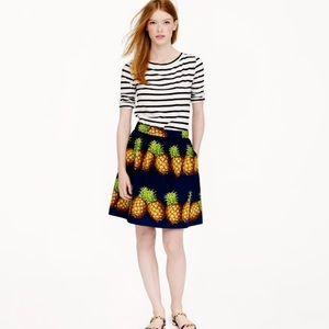JCrew ratti pineapple skirt RARE size 0